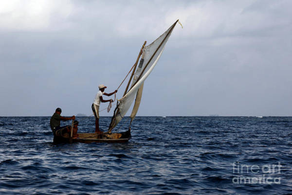 Photograph - Dugout Sailing Canoe San Blas Islands Panama by James Brunker