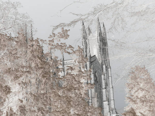 Photograph - Duke Chapel - Infrared by Paulette B Wright