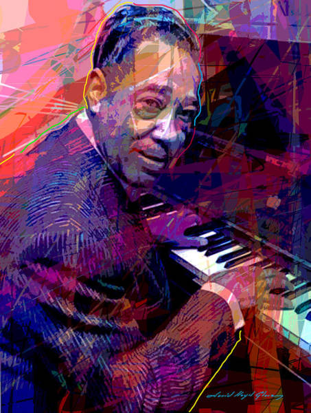 Piano Player Painting - Duke Ellington At The Piano by David Lloyd Glover