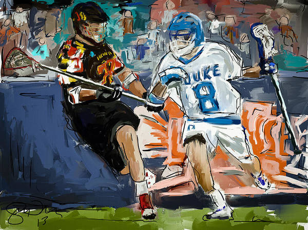 Lax Painting - College Lacrosse 2 by Scott Melby