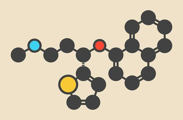 Psychiatry Photograph - Duloxetine Antidepressant Drug Molecule by Molekuul