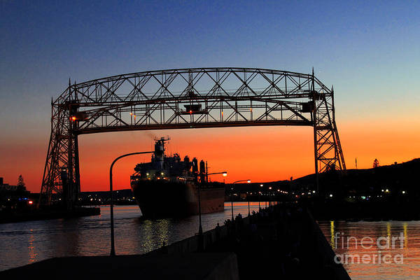 Wall Art - Photograph - Duluth Bridge by Lori Tordsen