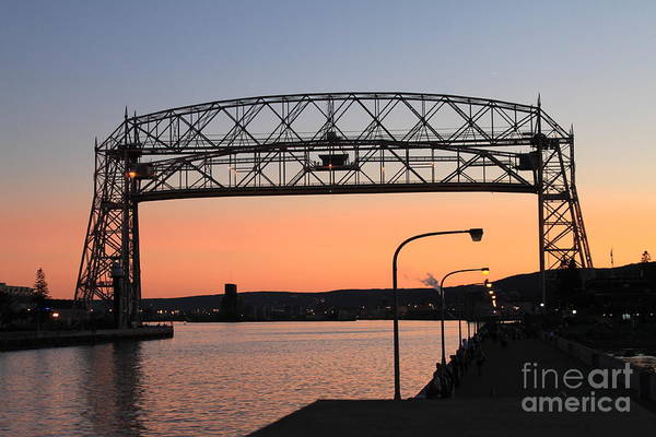 Wall Art - Photograph - Duluth Aeriel Lift Bridge by Lori Tordsen