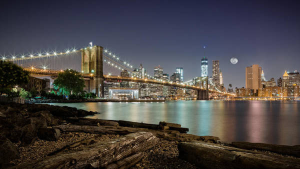 Wall Art - Photograph - Dumbo After Midnight by Eduard Moldoveanu