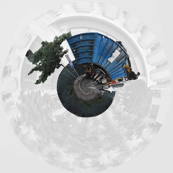 Dump Truck Photograph - Dump Truck On A Wee Planet by Paulette B Wright