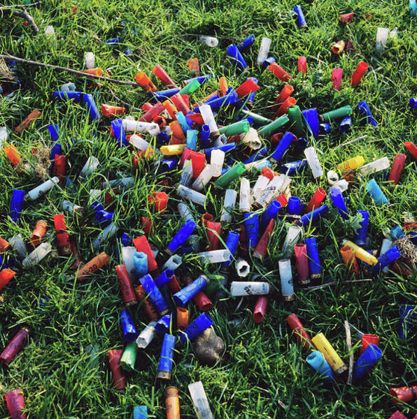 Wall Art - Photograph - Dumped Gun Cartridges by Robert Brook/science Photo Library