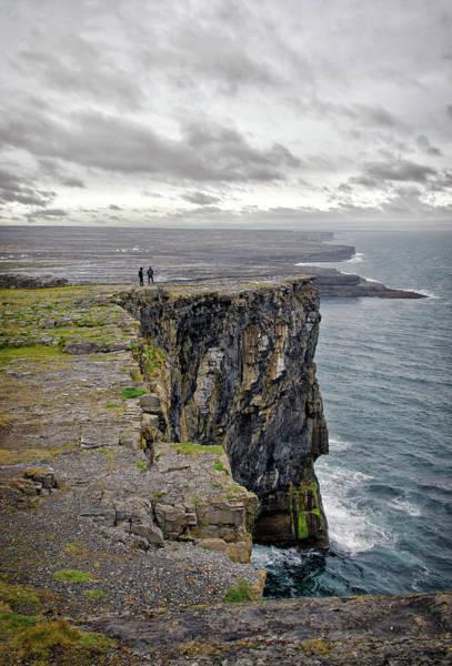 Dun Photograph - Dun Aengus Cliffs by Michelle Mcmahon