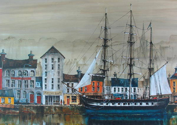 Painting - Dunbrody Famine Ship by Val Byrne