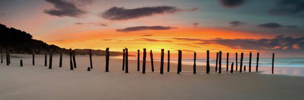 Pier Photograph - Dunedin St Clair Beach Sunrise Old by Kathryn Diehm