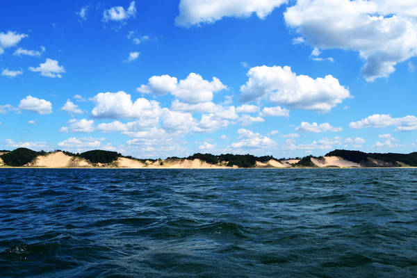 Photograph - Dunes And Lake Michigan by Michelle Calkins