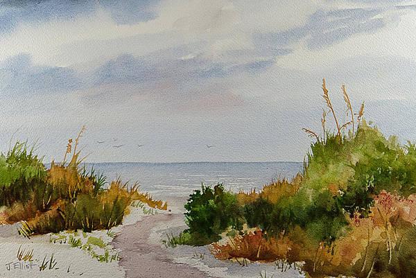 Jekyll Island Painting - Dunes by Jo Elliott
