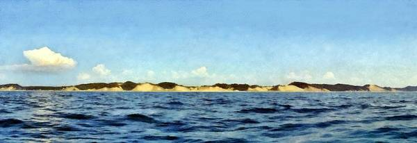 Painting - Dunes Panorama by Michelle Calkins