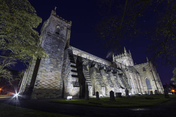Photograph - Dunfermline Abbey By Night 2 Of 6 by Ross G Strachan