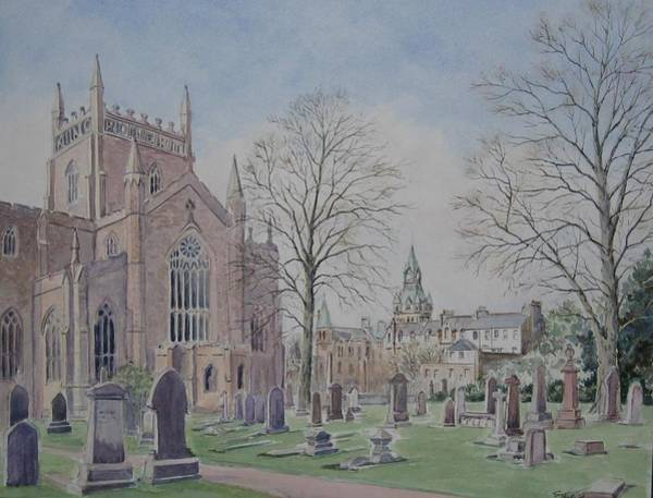 Fife Painting - Dunfermline Abbey by Stella Turner