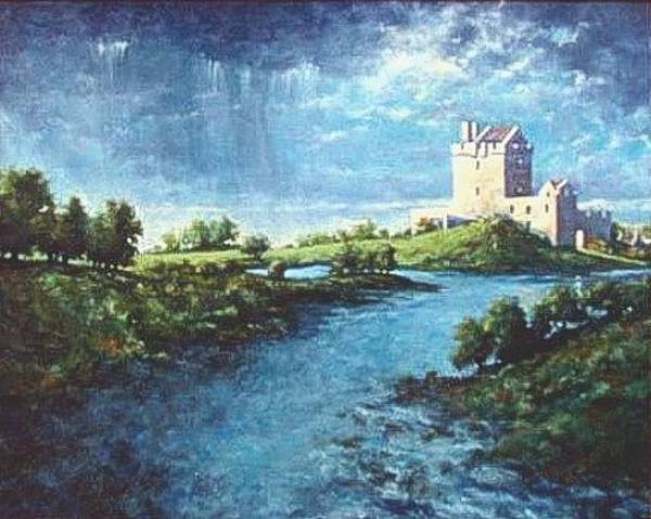 Wall Art - Painting - Dungaire Castle by Jim Gola