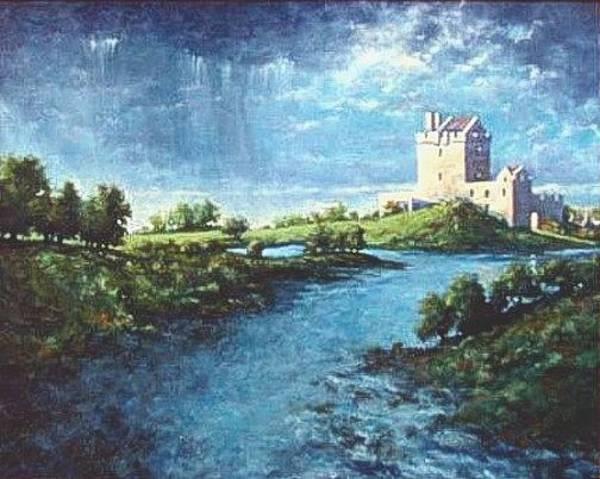 Pastoral Wall Art - Painting - Dungaire Castle by Jim Gola