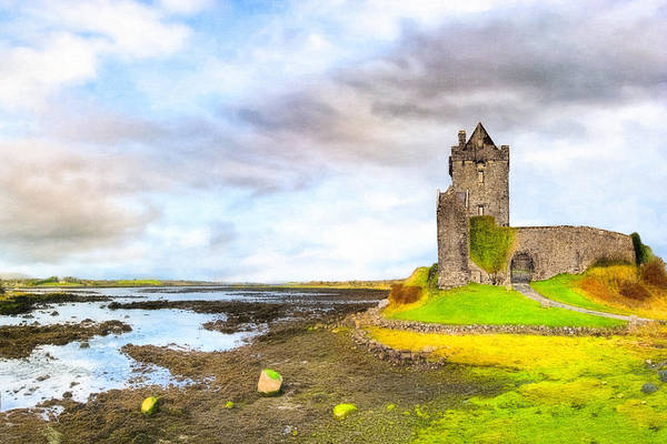 Photograph - Dunguaire Castle In County Galway Ireland by Mark E Tisdale