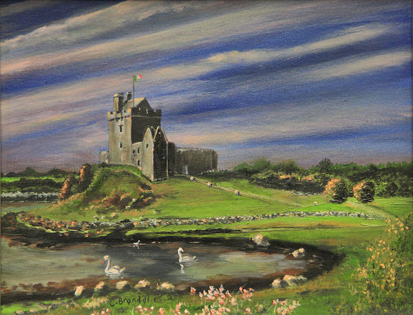 Wall Art - Painting - Dunguaire Castle Ireland by Cecilia Brendel