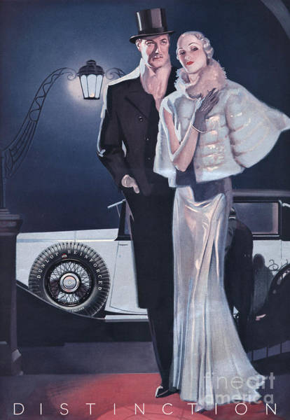 Nineteen-thirties Wall Art - Drawing - Dunlop 1933 1930s Uk Tyres Mens Womens by The Advertising Archives