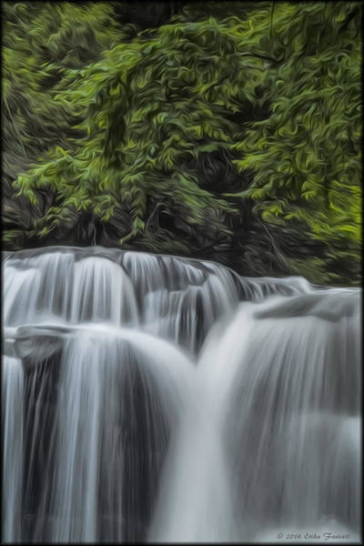 Photograph - Dunlop Falls In Oil by Erika Fawcett