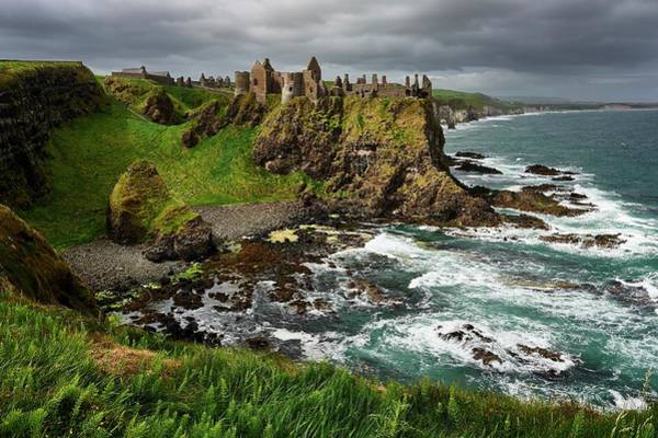 County Antrim Wall Art - Photograph - Dunluce Castle, Northern Ireland by Andrea Pistolesi