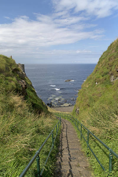 Northern Ireland Photograph - Dunluce Staircase Ireland by Betsy Knapp