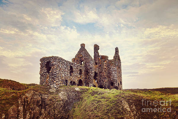 Galloway Wall Art - Photograph - Dunskey Castle by Colin and Linda McKie