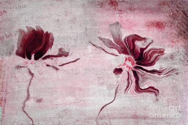 Simplicity Digital Art - Duo Daisies - 43t3red by Variance Collections