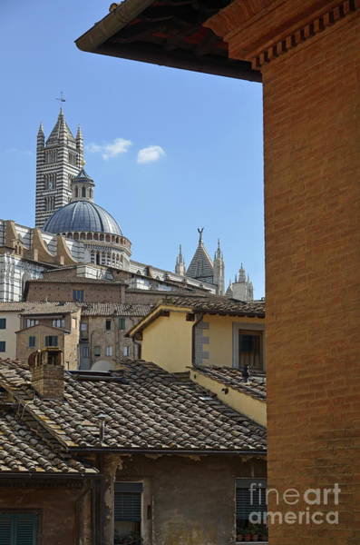 Wall Art - Photograph - Duomo Cathedral And Red Tiled Roofs by Sami Sarkis