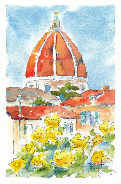 Painting - Duomo From Il Villino by Pat Katz