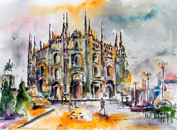 Painting - Duomo Milan Italy by Ginette Callaway
