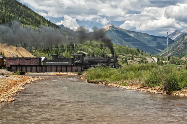 Photograph - Durango And Silverton Train by Melany Sarafis