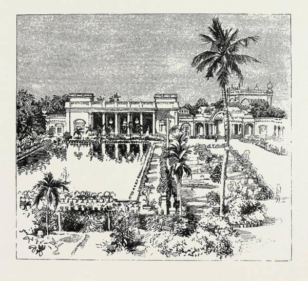 Wall Art - Drawing - Durbar Hall The Nizams Palace, Prince Albert Victor by Litz Collection