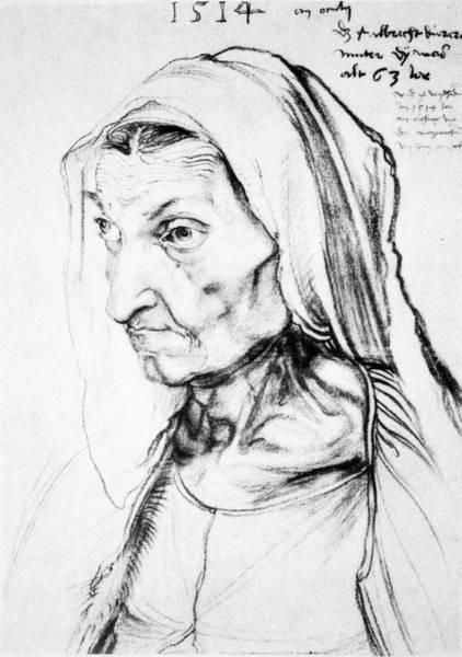 German Renaissance Drawing - Durer Durer's Mother by Granger