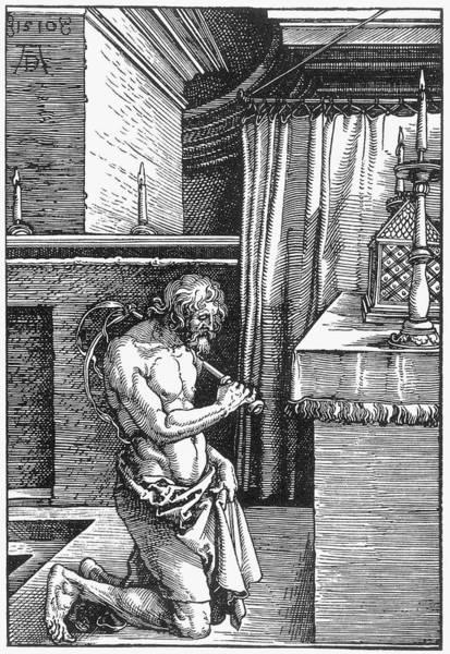Painting - Durer The Penitent, 1510 by Granger