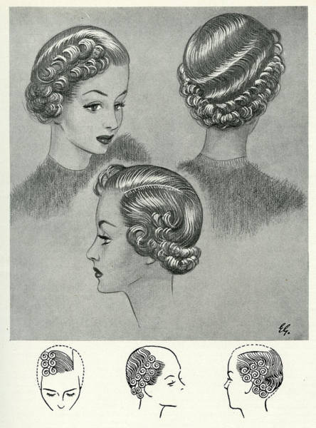 Hairdo Drawing - During The 1940s, World War II, When by Mary Evans Picture Library