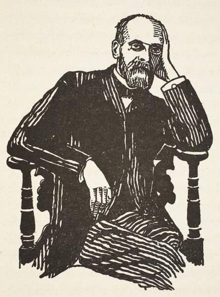Theorist Wall Art - Drawing - Emile Durkheim by French School