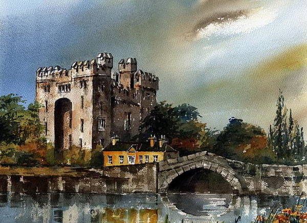 Painting - Durty Nellies At Bunratty by Val Byrne