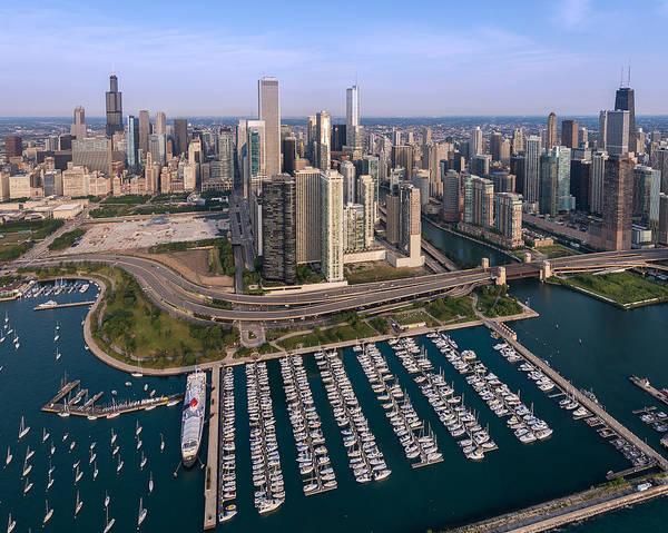 Wall Art - Photograph - Dusable Harbor Chicago by Steve Gadomski