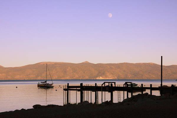Photograph - Dusk At Lake Tahoe by Susan Leonard