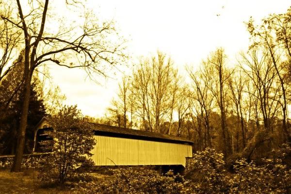 Fairhill Photograph - Dusk At The Bridge by Alice Gipson