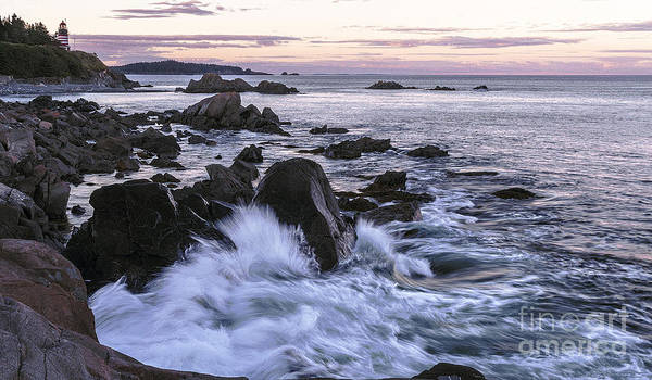 Wall Art - Photograph - Dusk At West Quoddy Head Light by Marty Saccone