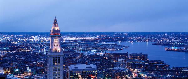 Boston North End Wall Art - Photograph - Dusk Boston Massachusetts Usa by Panoramic Images