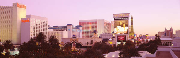 Harrahs Photograph - Dusk Las Vegas Nv by Panoramic Images
