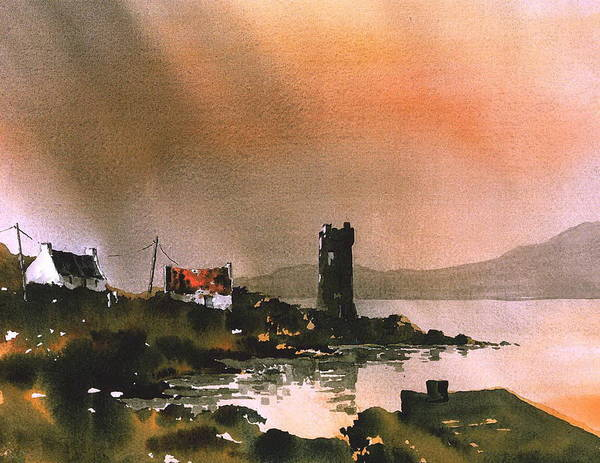Painting - Dusk On Achill  Mayo by Val Byrne
