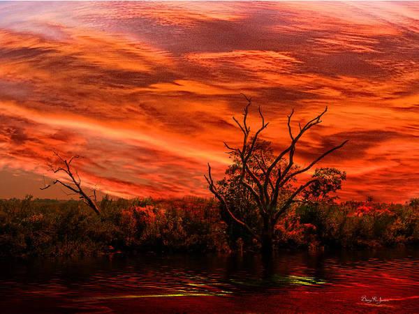 Photograph - Coastal - Sunset - Dusk On The Bayou by Barry Jones