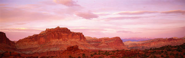 Geologic Formation Photograph - Dusk Panorama Point Capital Reef by Panoramic Images