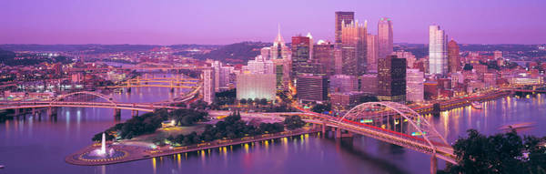 Rise Above Wall Art - Photograph - Dusk, Pittsburgh, Pennsylvania, Usa by Panoramic Images