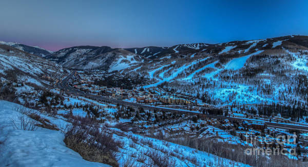 Dusk Setting In The Vail Valley Art Print