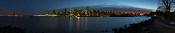 Photograph - Dusk Settles Over Vancouver by Ross G Strachan